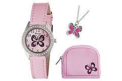 prizes-tikkers-pink-butterfly-watch-set